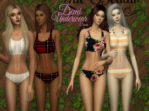 Sims 4 — Demi Underwear by Dissia — Demi Underwear available in 16 swaches Hope you like it :)
