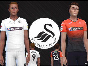 Sims 4 — Swansea City jerseys 2018/19 by RJG811 — Swansea City jerseys 2018/19 -Oli McBurnie -Connor Roberts