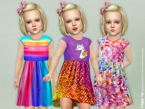 Sims 4 — Toddler Dresses Collection P91 by lillka — Toddler Dresses Collection P91 3 styles YOU NEED the Toddler Stuff
