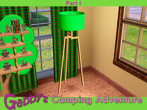 Sims 3 — Gabby's Camping Adventure Floorlamp by Cashcraft — Elegant tripod floorlamp with a budget friendly LED light