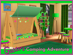 Sims 3 — Gabby's Camping Adventure by Cashcraft — Gabbys Camping Adventure is a Sims 3 set that I created for my niece