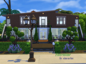 Sims 4 — Florentine by simcactus — This is a 'house on lake' build. You reach the house over a short bridge and it only