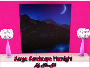 Sims 3 — Large Landscape Moonlight by elisaeli1 — To decorate better, the living room or even the bedroom, put this