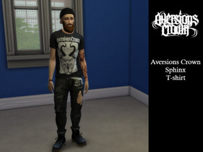 Sims 4 — My Wardrobe - Aversions Crown Sphinx - T-shirt by tomol2 — - My first ever mod! - I woke up and decided sims 4