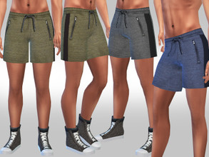 Sims 4 — Men Athletic Running and Tracking Shorts by saliwa — Men Athletic Running and Tracking Shorts design by Saliwa
