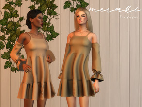 Sims 4 — Meraki by laupipi2 — New boho inspiration dress! Enjoy Custom mesh, all LODs 14 Swatches All maps Thumbnail