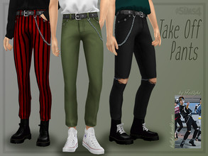 Sims 4 — Trillyke - Take Off Pants by Trillyke — Pants with accessory chains hanging on the belt loops. Inspired by Ten
