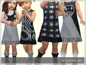 Sims 4 — Dress Toddler by bukovka — Dress with socks for babies. Installed autonomously, the new mesh is turned on.
