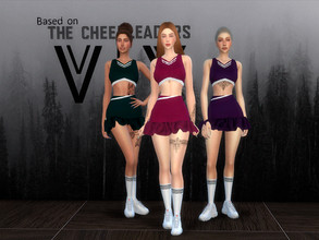 Sims 4 — Cheerleaders_Viy1 by Viy_Sims — New Thread! With 4 colors. For all sims cheerleaders. This mesh was inspired by