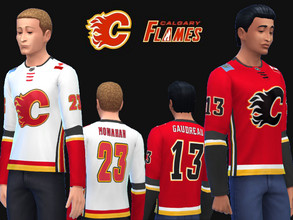 Sims 4 — Calgary Flames jerseys by RJG811 — Calgary Flames jerseys -Johnny Gaudreau -Sean Monahan a request from