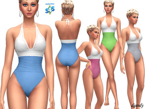 Sims 4 — Swimsuit 201905_10 by Dgandy — Base game item Outfits: Swimwear 4 colors