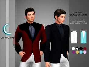 Sims 4 — Men's Social Blazer by Cris_Paula_Sims — This is a blazer of the clothing sets of the expansion life in the