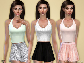 Sims 4 — Two Piece PJ Set 02 by Black_Lily — YA/A/Teen 3 Styles New item Edited EA mesh by me