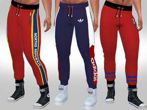 Sims 4 — Athletic Joggers For Male Sims by saliwa — Athletic Joggers For Male Sims design by Saliwa