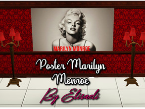 Sims 3 — Marilyn Monroe Poster by elisaeli1 — If you like the stars of the 50s and 60s, you can put this poster of