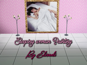 Sims 3 — Sleeping woman Painting by elisaeli1 — If you want, you can make your bedroom even more beautiful, you can put