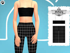 Sims 4 — Black and White Square Outfit by MsBeary — Enjoy this sweet little two piece outfit!