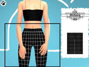 Sims 4 — Black and White Square Jeggings by MsBeary — Enjoy these simple little jeggings! bottom piece to the Black and