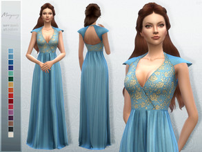 Sims 4 — Margaery Dress by Sifix2 — Inspired by Game of Thrones' Margaery Tyrell. - New mesh - Base game compatible -