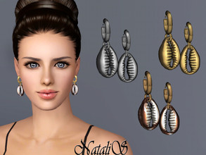 Sims 3 — NataliS TS3 Cowrie shell earrings by Natalis — Cowrie shell earrings. FT-FA-FE