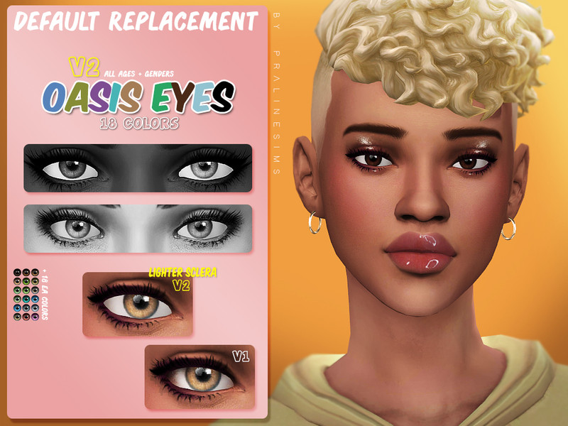 Pralinesims Oasis Eyes N155 V2 Default Replacement