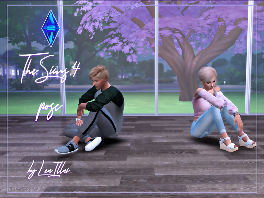 Leaillai S Couple Pose Sitting On The Floor Ts4