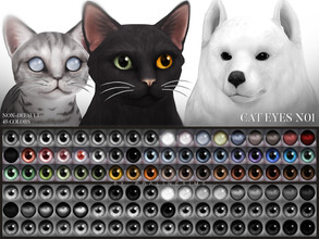 Sims 4 — Cat Eyes N01 Non-Default by Pralinesims — Cat eyes in 45 colors, is additional to the default eyes and comes
