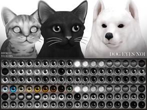 Sims 4 — Dog Eyes N01 Default Replacement by Pralinesims — Dog eyes in 9 colors, replaces the default eyes and comes with