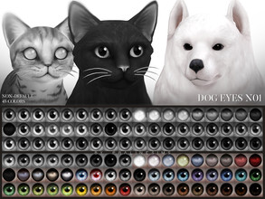 Sims 4 — Dog Eyes N01 Non-Default by Pralinesims — Dog eyes in 45 colors, is additional to the default eyes and comes