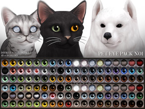 Sims 4 — Pet Eye Pack N01 by Pralinesims — Eyes for cats and dogs in 54 colors, comes as non default or default