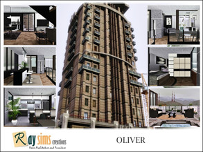 Sims 3 — Oliver by Ray_Sims — City living with available outside space, this house features multiple balconies in most