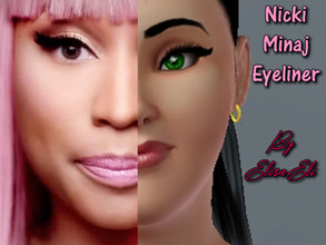 Sims 3 — nicki minaj eyeliner by elisaeli1 — This Eyeliner is inspired by Nicki Minaj. Nicki Minaj is a rapper, singer,
