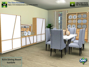 Sims 3 — kardofe_Aura Dining Room_0 by kardofe — Dining room composed of 13 new meshes