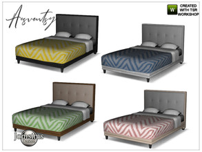 Sims 4 — Acsventsy bedroom double bed by jomsims — Acsventsy bedroom double bed