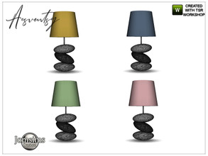 Sims 4 — Acsventsy bedroom table lamp by jomsims — Acsventsy bedroom table lamp