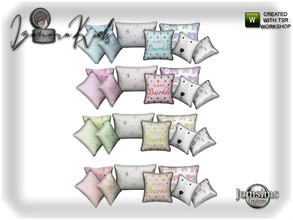 Sims 4 — Izanora kids bedroom cushions bed deco by jomsims — Izanora kids bedroom cushions bed deco