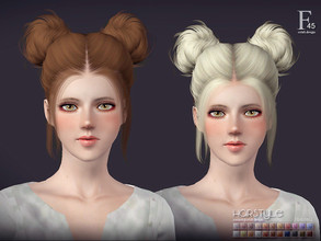 Sims 3 — sclub ts3 hair double-buns2 n45 by S-Club — Hi everyone! Here is my n45 hair for TS3 too! You can find the hair