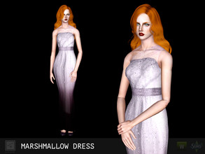 Sims 3 — Marshmallow dress by Shushilda2 — New mesh | Low poly | 4 recolorable channels | CAS and Launcher icons