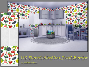 Sims 4 — MB-StoneCollection_Fruits,Border by matomibotaki — MB-StoneCollection_Fruits,Border fresh tile wall with middle
