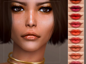 Sims 4 — [ Control ] - Lip Colour by Screaming_Mustard — A super glossy lip colour. For females, teen +. With custom