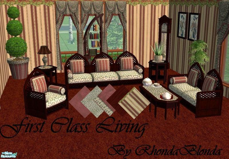 rhondablonda 39 s first class living set. Black Bedroom Furniture Sets. Home Design Ideas