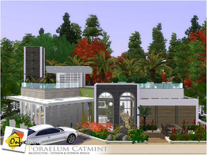 Sims 3 — Poraelum Catmint by Onyxium — On the first floor: Living And Study Room | Dining Room | Kitchen | Bathroom |