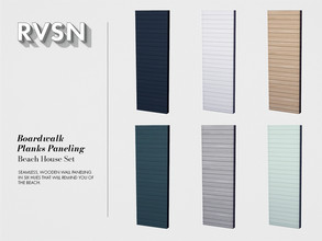 Sims 4 — Boardwalk Planks Wallpaper by RAVASHEEN — Seamless, wooden wall paneling in six hues that will remind you of the