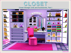 Sims 3 — Closet by Cashcraft — Closet Part I is a Sims 3 set that features 10 new meshes, a large 4-tile storage unit, a