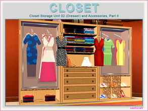 Sims 3 — Closet Part 2 by Cashcraft — Closet Part II, consist of 8 new objects, which are a closet storage unit 02