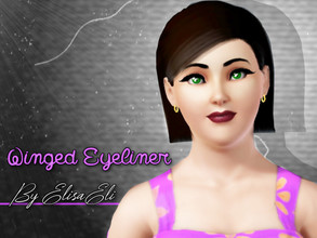 Sims 3 — Winged Eyeliner by elisaeli1 —  Hi ,this eyeliner is not inspired by anyone. created by me elisaeli.don't steal,