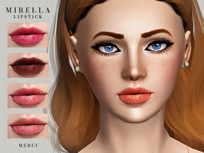 Sims 3 — MIRELLA LIPSTICK  by -Merci- — Lipstick with 3 recolorable channels. For female, teen-elder. Have Fun!