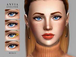 Sims 3 — ANVIA EYELINER by -Merci- — Eyeliner is in one recolorable channel. Unisex, teen-elder. Have Fun!