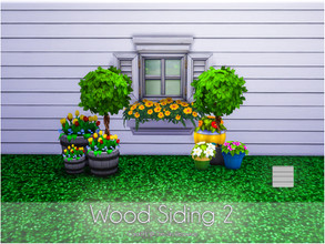 Sims 4 — Wood Siding 2 by Caroll912 — No recolours. Realistic,bright,modern style and classy wood panel siding. Suitable