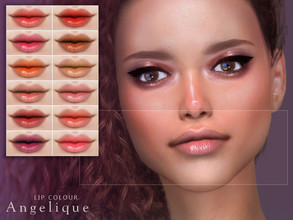 Sims 4 — [ Angelique ] - Lip Colour by Screaming_Mustard — A simple, natural style lip colour. For females, teen +. With